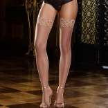 Sheer Thigh High Stockings - Tuscany 0005 Nude