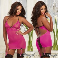Garter Slip with Matching Thong 9724