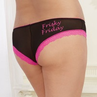 3 Pack Panties Queen Size - Black/Pink/Turquoise 1425X