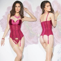 Stretch Lace Bustier Raspberry S4080