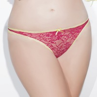 Lace Crotchless Panty Queen Size S4085X