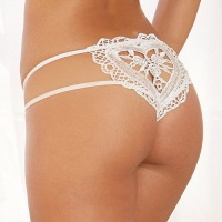 Heart Embroidered Open Crotch Panty 1429