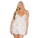 Stretch Lace Babydoll White Queen 31193