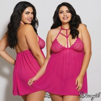 Strappy Stretch Lace Babydoll with G-String 10613X