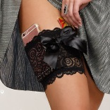 Lace Garter Wallet Black
