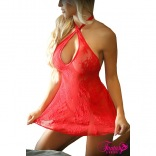 Red Stretch Lace Babydoll FAV737