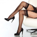Sheer Thigh High Stockings 1750